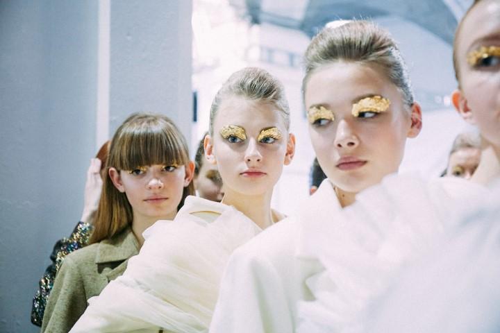 Подиумный макияж, неделя моды, fashion, фешн показ